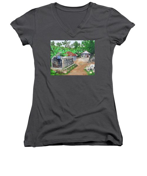 Rural Haiti - A Study In Poignancy Women's V-Neck T-Shirt