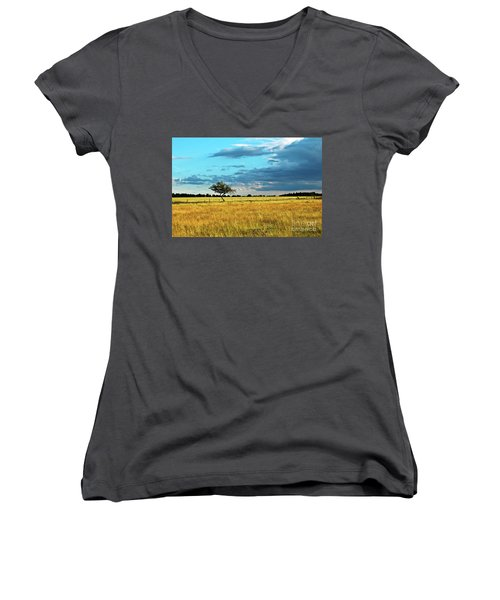 Rural Idyll Poetry Women's V-Neck
