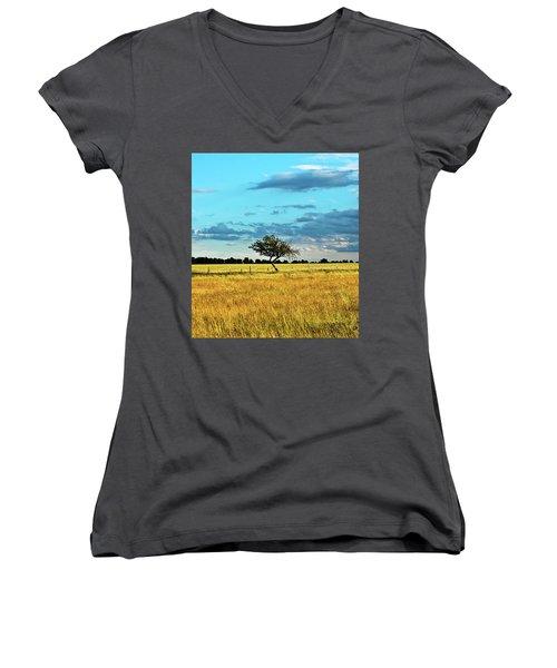 Rural Idyll Poetry Women's V-Neck