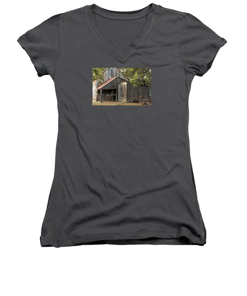 Rural Texas Women's V-Neck T-Shirt (Junior Cut) by Joe Jake Pratt