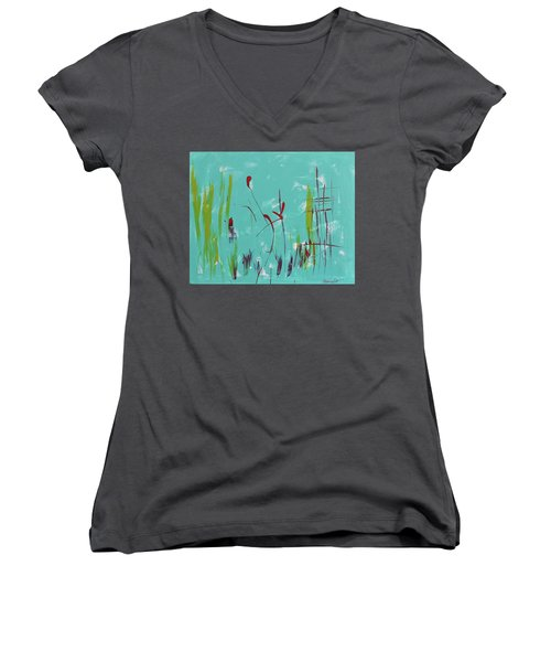 Rushes And Reeds Women's V-Neck