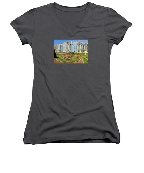 Russian Palace Women's V-Neck T-Shirt (Junior Cut) by Dennis Cox WorldViews