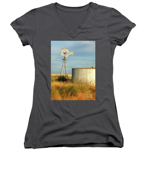 Rust Find Its Place Women's V-Neck (Athletic Fit)