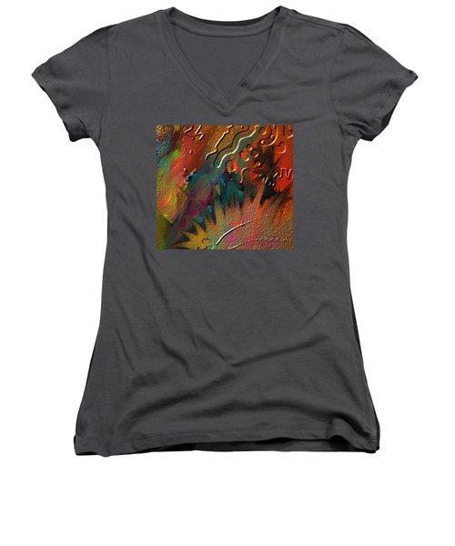 Rust Never Sleeps Women's V-Neck T-Shirt (Junior Cut) by Kevin Caudill