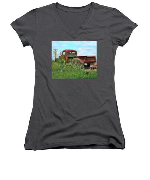 Rusted Not Retired Women's V-Neck (Athletic Fit)