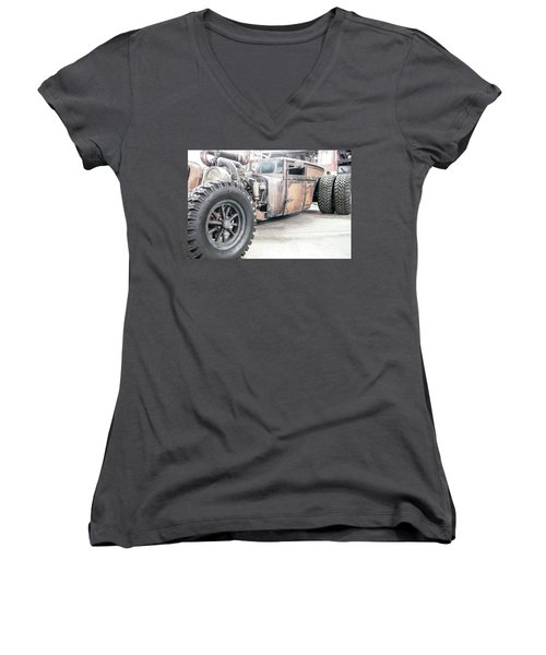 Rusty Crusty With Power Women's V-Neck T-Shirt