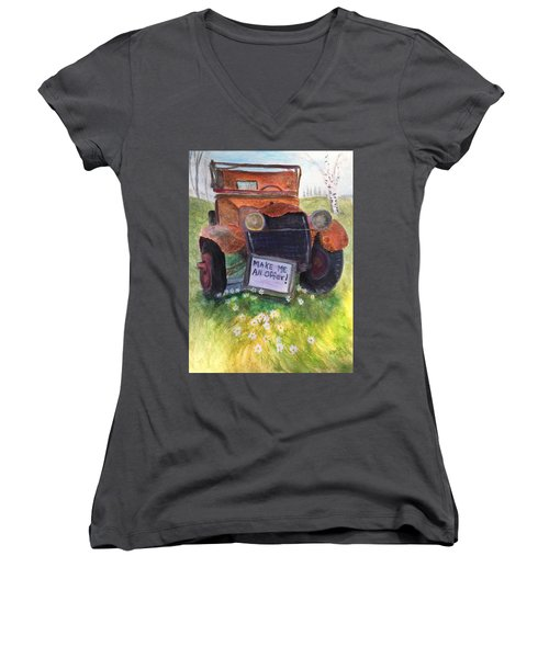 Rusty Old Relic Women's V-Neck (Athletic Fit)