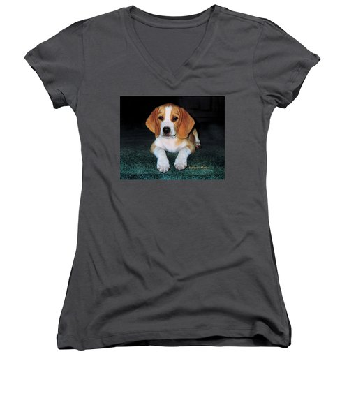 Rusty Puppy Women's V-Neck (Athletic Fit)