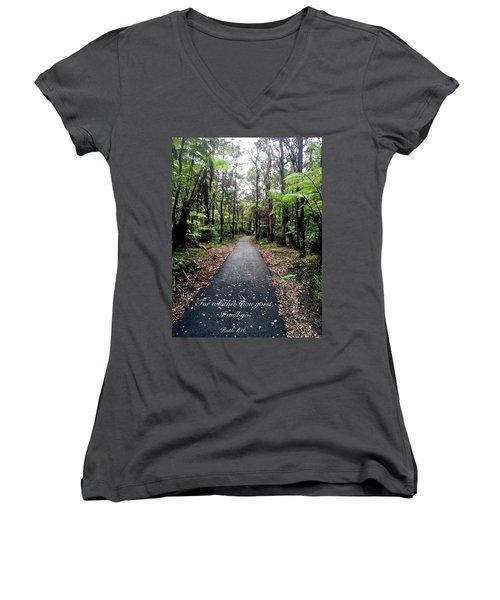 Ruth Women's V-Neck T-Shirt (Junior Cut) by Russell Keating