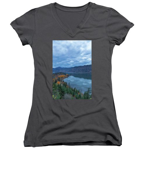 Ruthton Point During Evening Blue Hour Women's V-Neck T-Shirt
