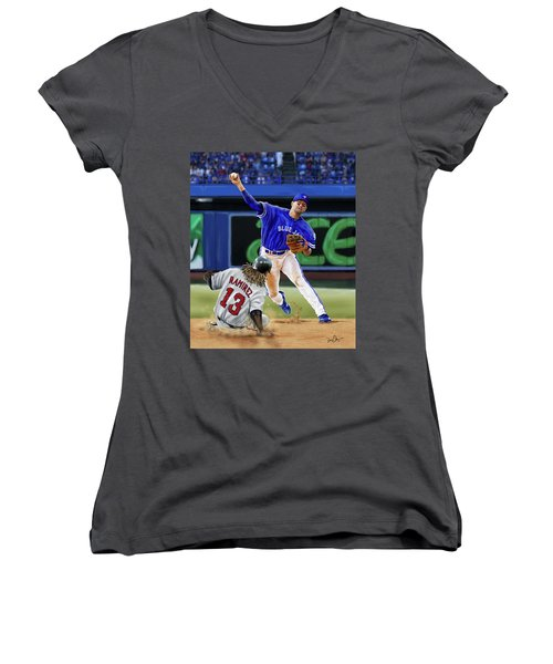 Ryan Goins Women's V-Neck T-Shirt