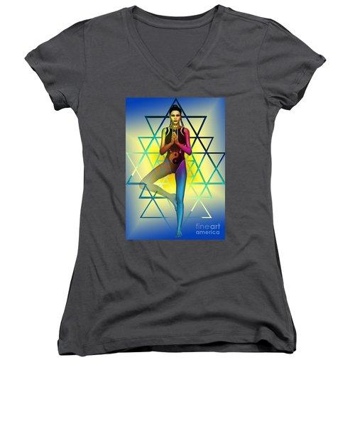 Sacred Geometry 2 Women's V-Neck T-Shirt