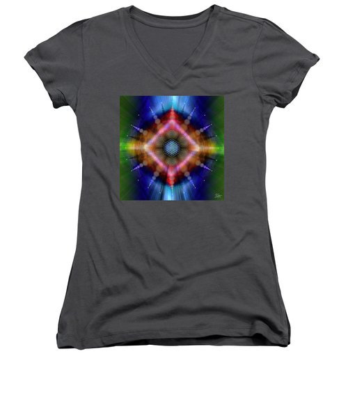 Sacred Geometry 645 Women's V-Neck