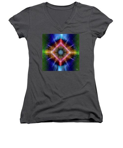 Sacred Geometry 645 Women's V-Neck T-Shirt