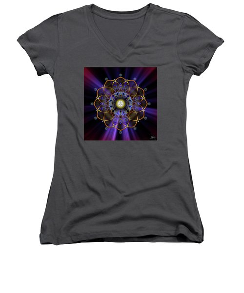 Sacred Geometry 647 Women's V-Neck (Athletic Fit)