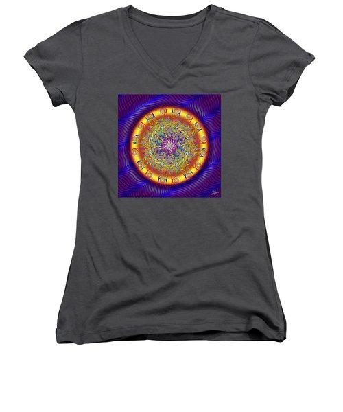 Sacred Geometry 649 Women's V-Neck T-Shirt
