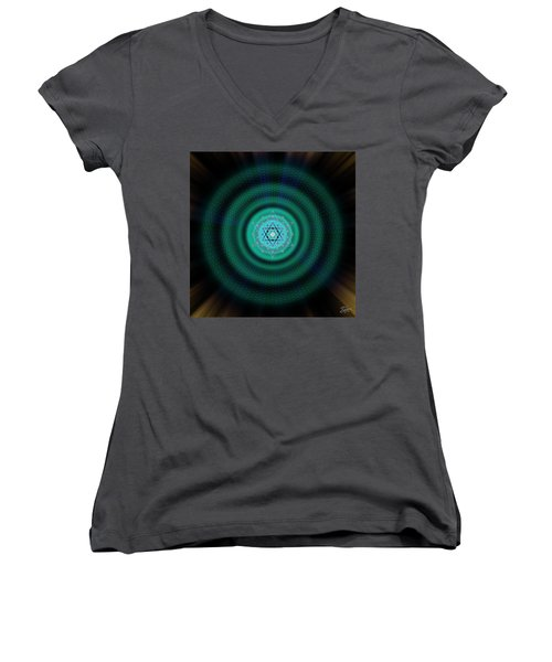Sacred Geometry 651 Women's V-Neck