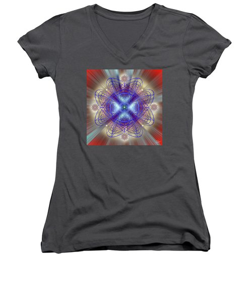 Sacred Geometry 656 Women's V-Neck (Athletic Fit)