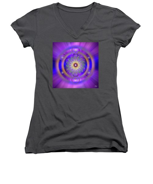 Sacred Geometry 658 Women's V-Neck
