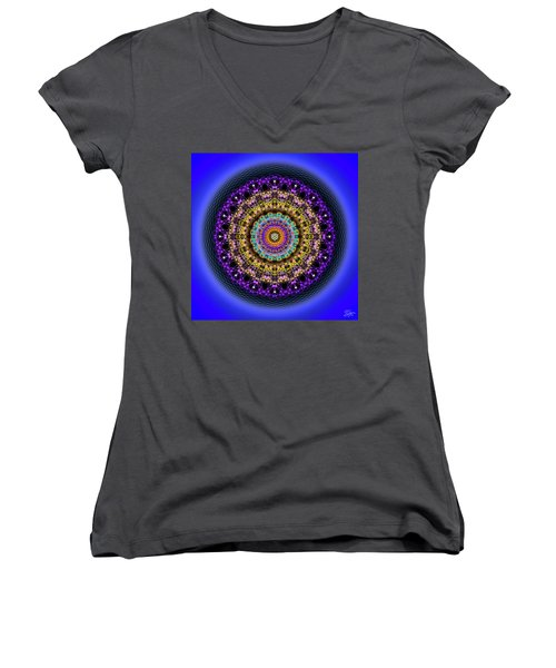 Sacred Geometry 708 Women's V-Neck