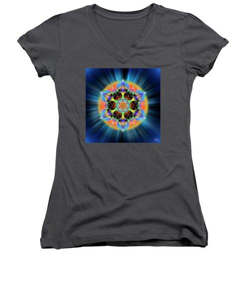 Sacred Geometry 709 Women's V-Neck