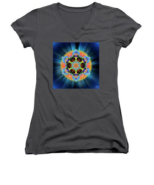 Sacred Geometry 709 Women's V-Neck