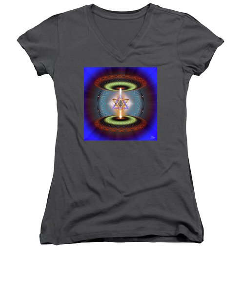 Sacred Geometry 718 Women's V-Neck