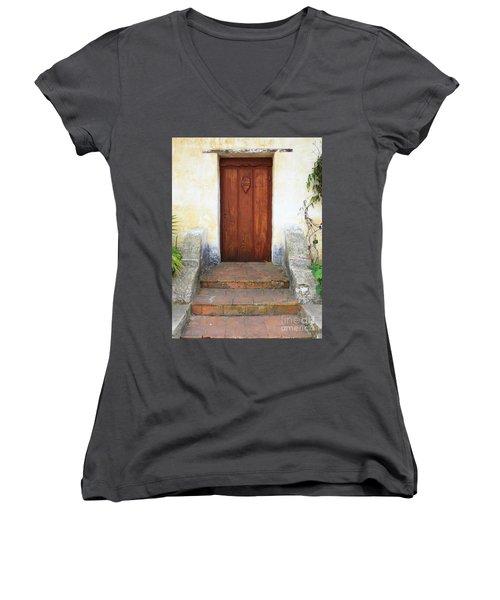 Sacred Heart Door Women's V-Neck