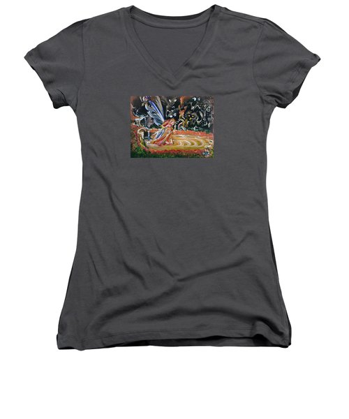 Sacred Pool 2 Women's V-Neck T-Shirt