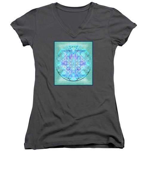 Sacred Symbols Out Of The Void 3b1 Women's V-Neck T-Shirt (Junior Cut) by Christopher Pringer