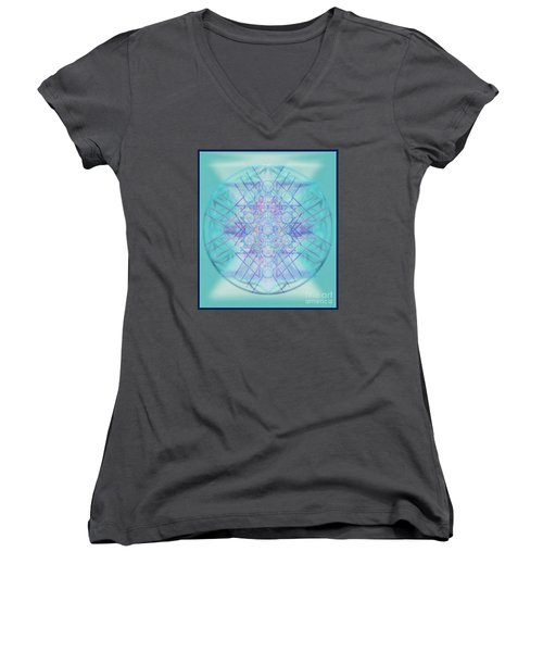 Sacred Symbols Out Of The Void A2b Women's V-Neck T-Shirt (Junior Cut) by Christopher Pringer