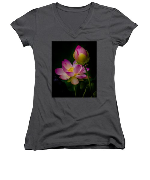Sacred Water Lily 4 Women's V-Neck