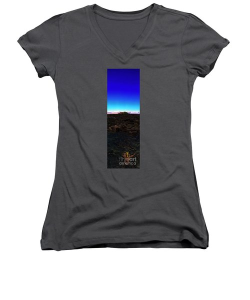Saddle Road Humuula Lava Field Big Island Hawaii  Women's V-Neck (Athletic Fit)