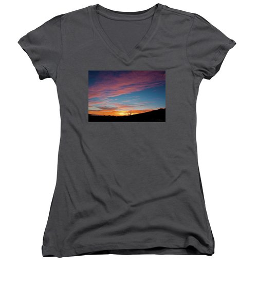 Saddle Road Sunset Women's V-Neck
