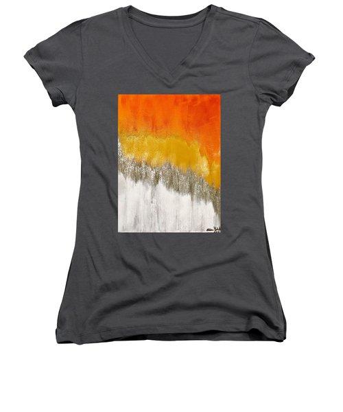 Saffron Sunrise Women's V-Neck