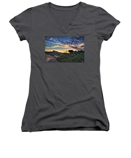 Sage Ranch Sunset Women's V-Neck T-Shirt