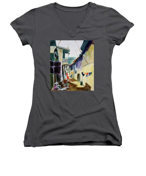 Saigon Alley Women's V-Neck T-Shirt