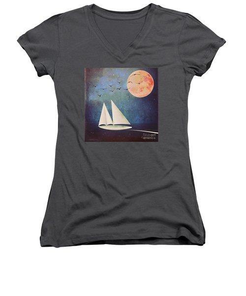 Sail Away Women's V-Neck T-Shirt