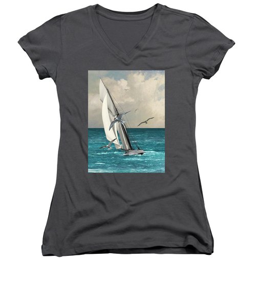 Sailing Southern Seas Women's V-Neck (Athletic Fit)