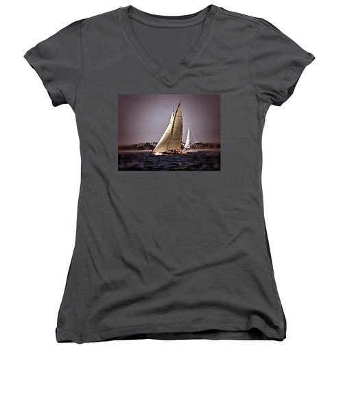 Sailing To Nantucket 005 Women's V-Neck