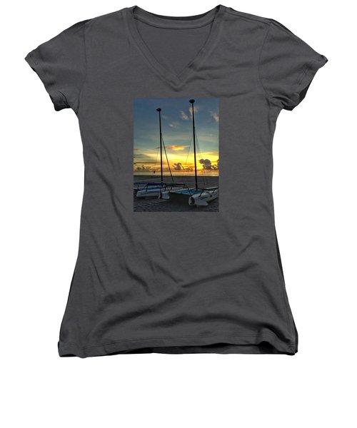 Sailing Vessels  Women's V-Neck T-Shirt