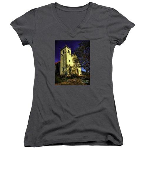 Saint Johns Two Women's V-Neck T-Shirt (Junior Cut)