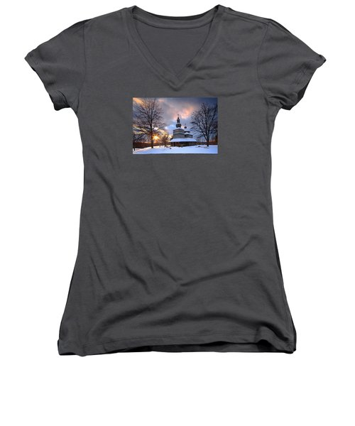 Saint Nicholas Chapel Women's V-Neck (Athletic Fit)