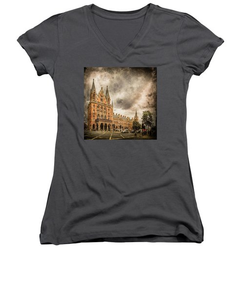 London, England - Saint Pancras Station Women's V-Neck
