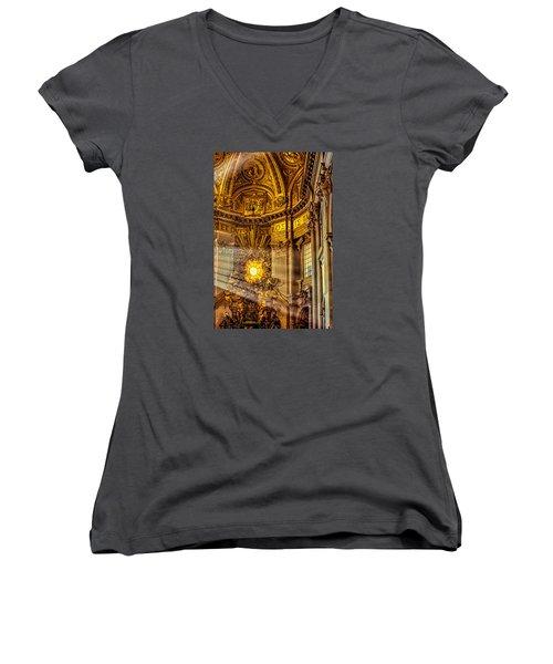 Saint Peter's Chair Women's V-Neck T-Shirt