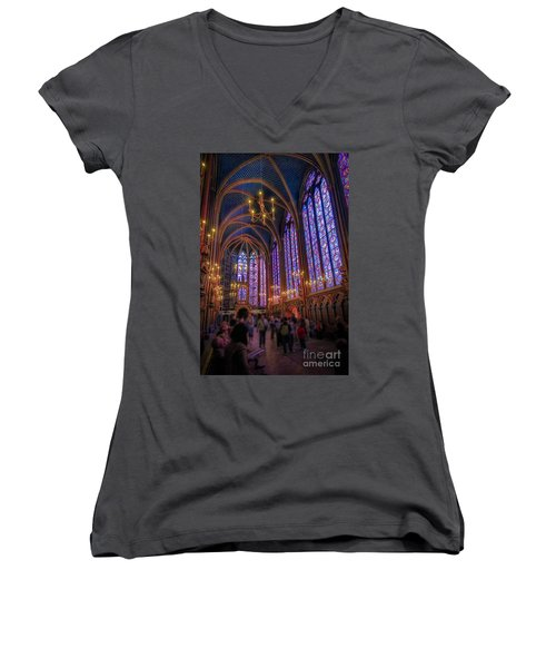 Sainte-chapelle Women's V-Neck (Athletic Fit)