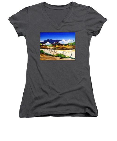 Salt Works - Port Alma Women's V-Neck T-Shirt (Junior Cut) by Therese Alcorn