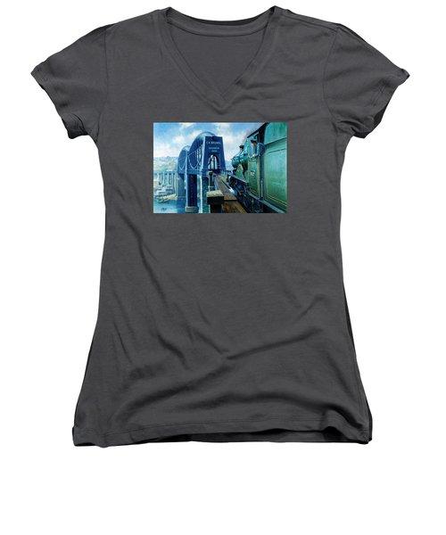 Saltash Bridge. Women's V-Neck T-Shirt