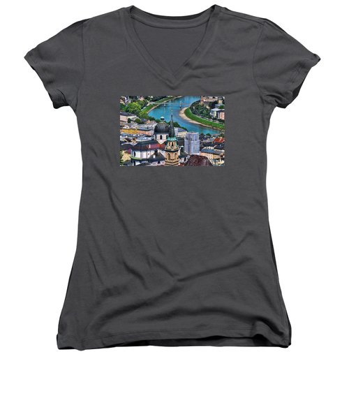 Salzburg Austria Europe Women's V-Neck (Athletic Fit)