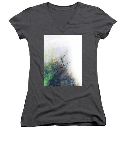 Samba Women's V-Neck T-Shirt